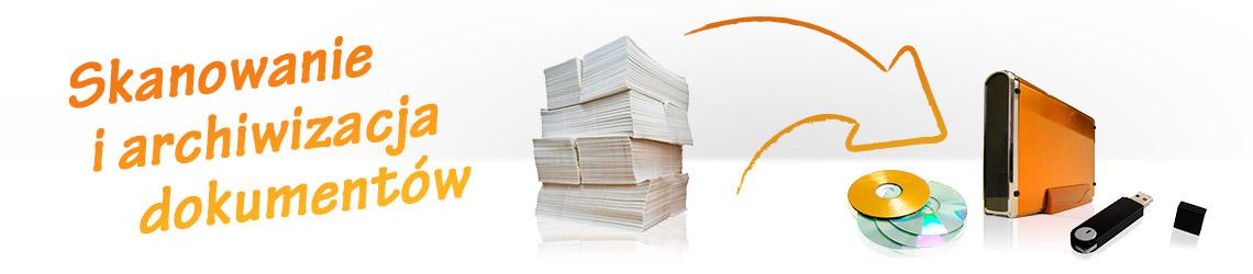 skanowanie i archiwizacja dokumentów