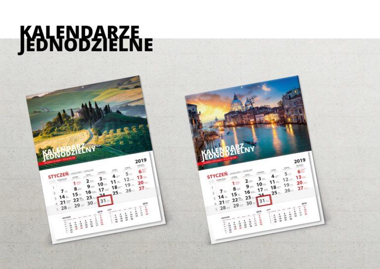 kalendarz firmowy jednodzielny