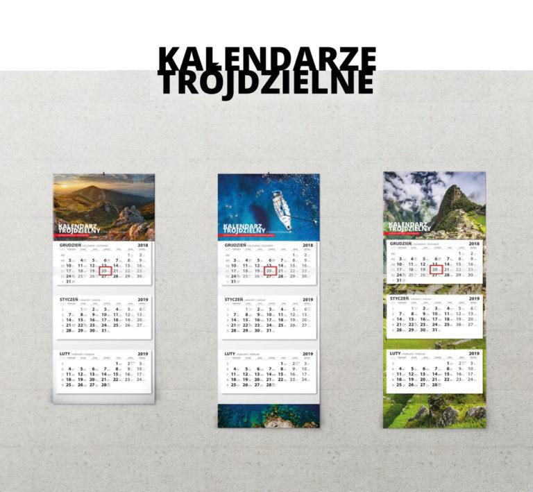 kalendarz firmowy trójdzielny